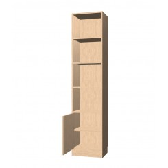 Bookshelf with 1 door bottom cupboard