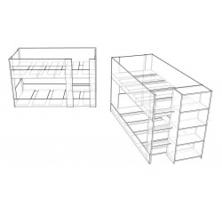 2 New mid height bunk bed designs!