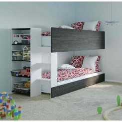 Bunk Bed Mid Height with built in Bookshelf