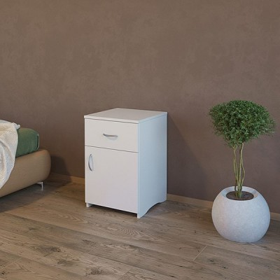 Bed side table with drawer & door cupboard