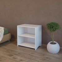Bed side table with single open adjustable shelf