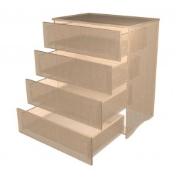 Chest of 4 Drawers Choose Your Own Height & Width