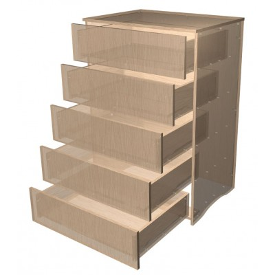 Chest of 5 Drawers Choose Your Own Height & Width