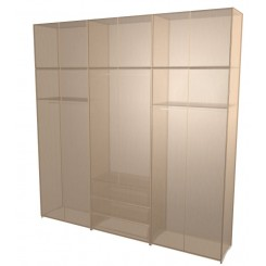 Full Wardrobe with Lots of Hanging space and extra top cupboards