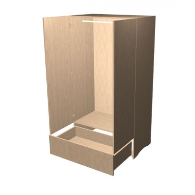 Wardrobe double door with 1 drawer and Lots of Hanging Space