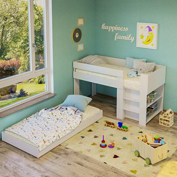 Get Low Bunk Bed With Trundle Gif