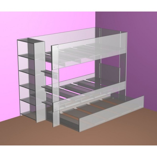 New bunk bed with optional trundle comes in two different heights!