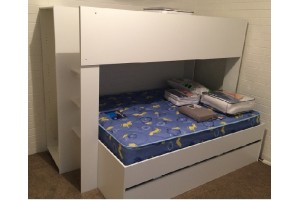 New Single over double bunk bed + optional trundle - Quadruple bunk bed!