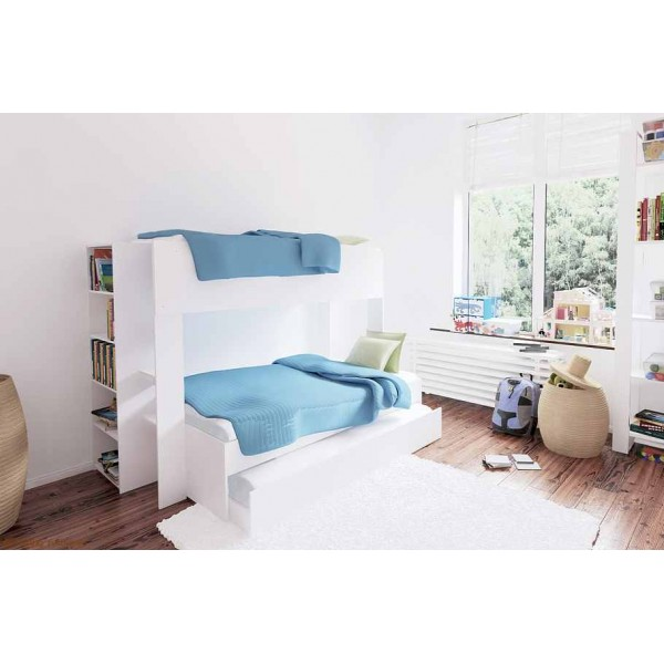 Triple Bunk Bed | Single Over Double & Optional Trundle