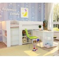 Compact Spacesaver single bed Open Shelves