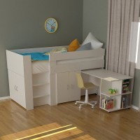 Compact Spacesaver Single Bed With Cupboard Doors