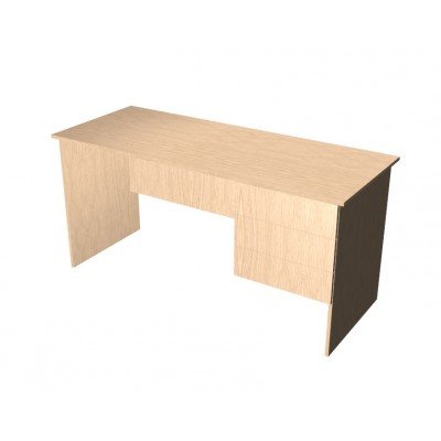 Panel End Desk with built in drawers