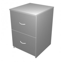 Mobile Drawer Unit with 2 File drawers