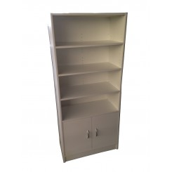 Bookshelf with Bottom 2 door Cupboard