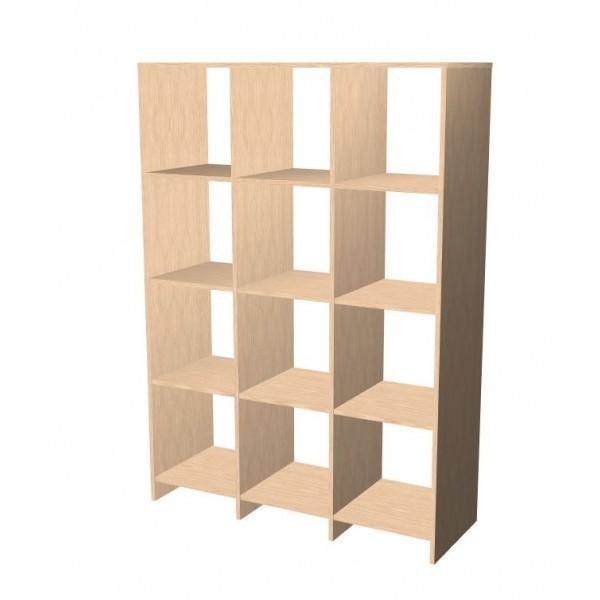 4 x 3 Open cube shelf system