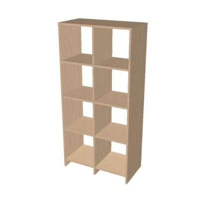 4 x 2 Cube Open storage shelf system