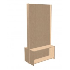 Free-standing Office Partition - Double Sided Open Shelves