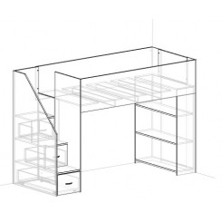 Cubby house Bunk with Easy climb steps Modification