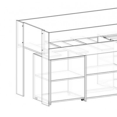 Spacesaver mid height beds - option to replace desk with shelf unit